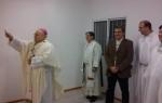 Mons. Mollaghan bendice las instalaciones. Fuente AICA